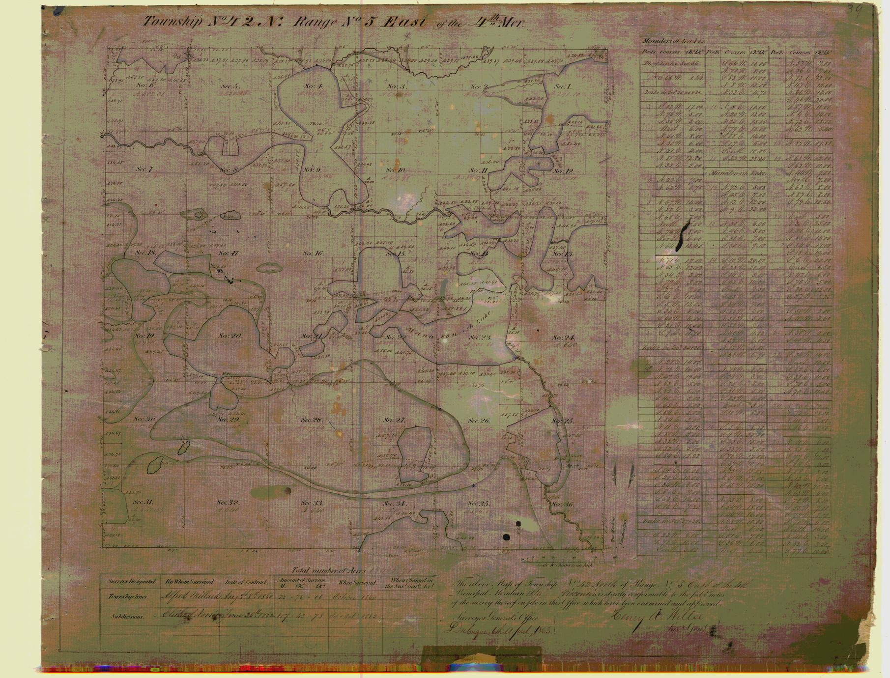 [Public Land Survey System map: Wisconsin Township 42 North, Range 05 East]