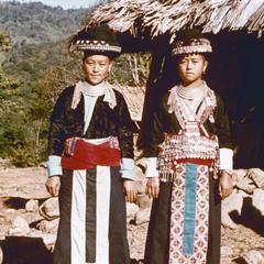 Two White Hmong young women in Houa Khong Province