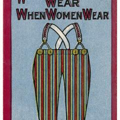 What will men wear, suffrage postcard