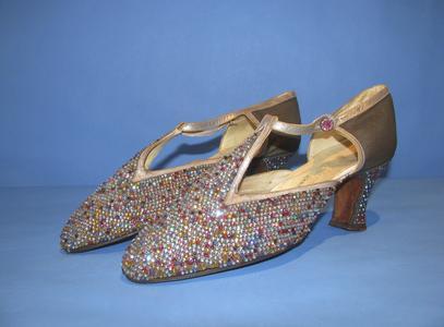 Multi-colored rhinestone shoes
