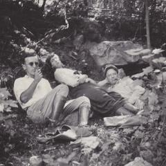 Hotchkiss and others resting on Rib Hill