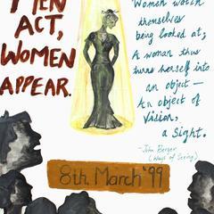 Men act, women appear
