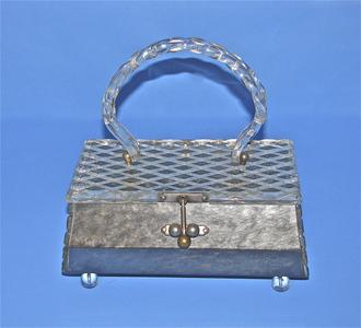 Octagonal Lucite purse