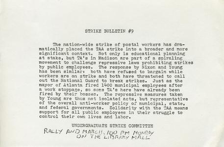 Strike Bulletin #9