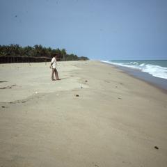 Salim on beach at Badagry