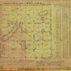 [Public Land Survey System map: Wisconsin Township 38 North, Range 10 West]