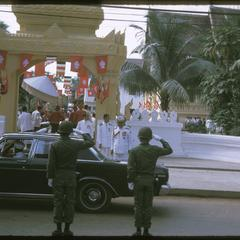 Departure from Vat Ong Tu oath taking ceremony--departure by rank order
