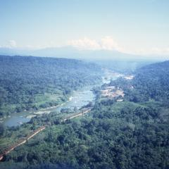 Aerial view of Nam Ngum River