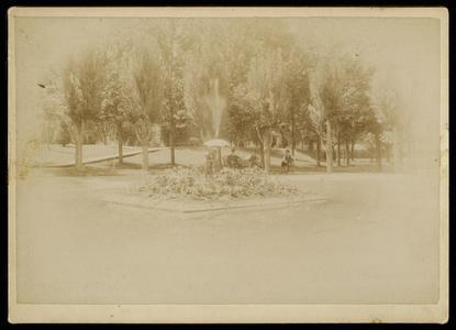 Silurian Spring, Waukesha, park and sculpture