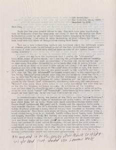Letter from Henry Peck, December 1, 1986