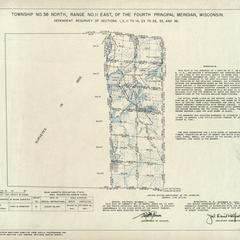 [Public Land Survey System map: Wisconsin Township 38 North, Range 11 East]