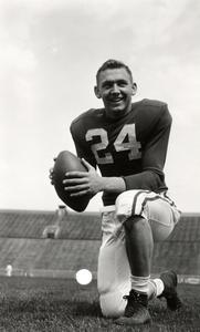 Dale Hackbart in football uniform