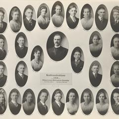 1920 Swiss Reformed Church confirmation class