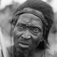 Lalia Man with Forehead Scar and Monkeyskin Headdress