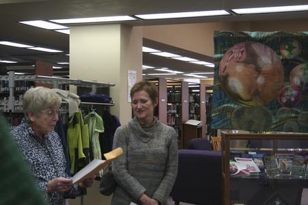 Threads and Metaphors community exhibit, University of Wisconsin--Marshfield/Wood County, 2013