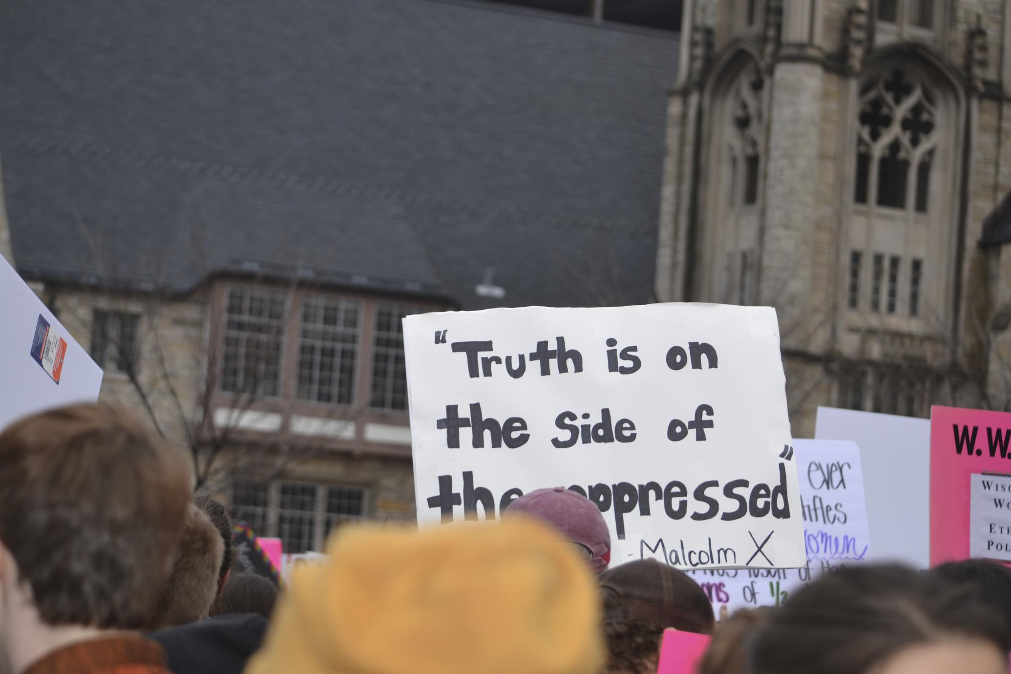 """"""" Truth is on the Side of the Oppressed"""" - Malcom X"""
