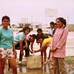 High School Girls After Basketball Game