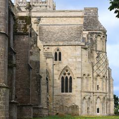 Christchurch Priory north transept from the east
