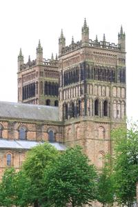 Durham Cathedral exterior west towers