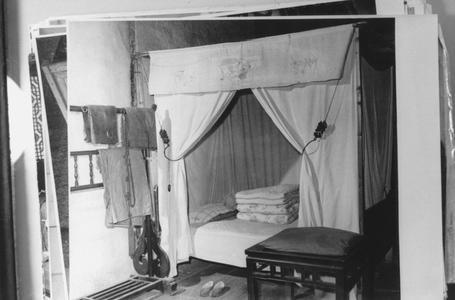 A Buddhist master's bedroom.