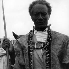 Oromo Man with Spear at Celebration