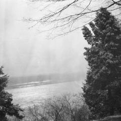 View of Mississippi River from hillside in Burlington