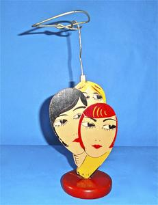 Flapper heads hat stand