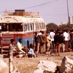 Bus Arriving at Lusaka from Western Province