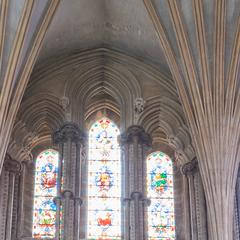 Ely Cathedral interior presbytery north wall