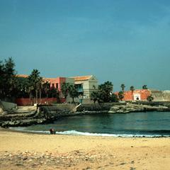 Port and Old Fort Which was a Prison on Island of Gorée