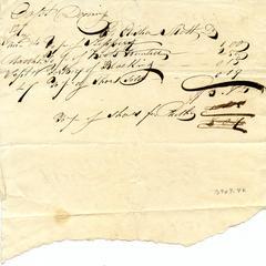 Bill from Elisha Scott to Captain Felix Dominy
