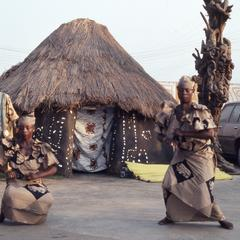 Woman dancers at masquerade