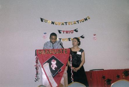 Two students speak at 2004 TRIO Program graduation