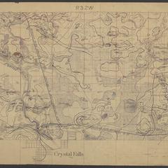 Geological map of area north of Crystal Falls (Iron County, Michigan)