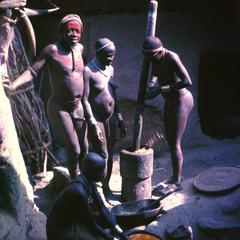 Group of People Cooking on Jos Plateau