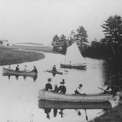 Boating on the river at Still Bend Rest