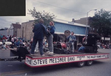 Steve Meisner Band on parade float