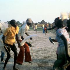Women and Men Dancing at a Nuer Wedding