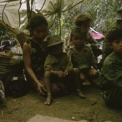 Ethnic Khmu' refugee family