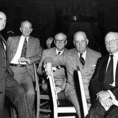At testimonial dinner for E. Sydney Stephens, 1947 (AL 2nd from L)