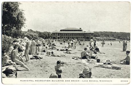 Municipal Recreation Building and beach