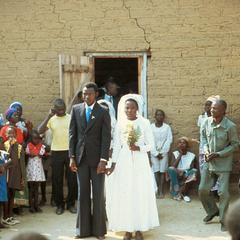 Bridal Couple Leaving the Church for Their Honeymoon