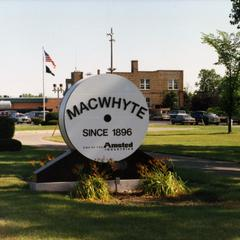 MacWhyte Wire Rope Company sign