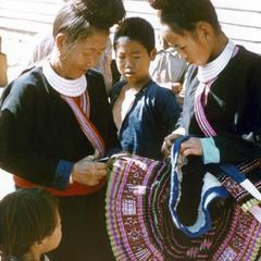 Blue Hmong (Hmong Njua) skirt in Houa Khong Province