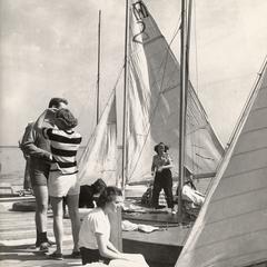 Docked sailboats on Lake Mendota