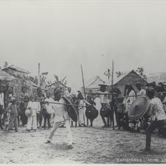 Moro spear dance, Zamboanga, early 1900s