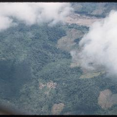 Air view of village