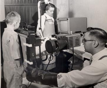 Child getting an x-ray