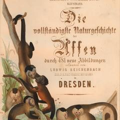 Title Page : Die Vollstandigste Naturgeschichte der Affen
