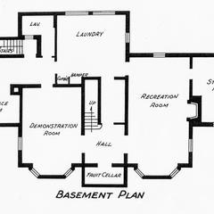 Home Management House 1940 floor plan